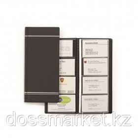 Визитница 4-х рядная Durable Visifix на 96 визиток, 118*250 мм, антрацитовая