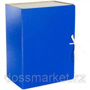 Архивный короб OfficeSpace, 150*240*320 мм, вместимость 1400 листов, с завязками, сплошной, синий