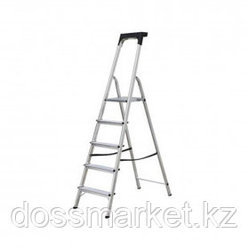 Стремянка алюминиевая Safety 5S, 5 ступеней, рабочая высота 305 см