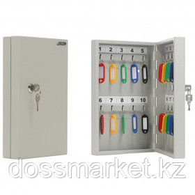 Ключница Aiko Key-20 на 20 ключей, 300*185*59 мм, с брелоками, серая
