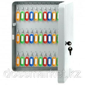 Ключница OfficeSpace на 140 ключей, 370*280*80 мм, с брелоками, серая