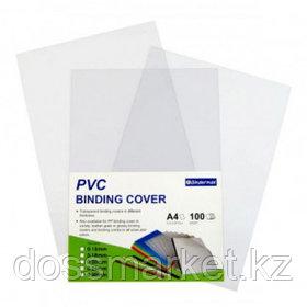 Обложка для переплета пластиковые Bindermax, А4, 250 мкм, прозрачные, 100 шт. в пачке