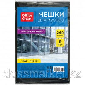 Мешки для мусора OfficeClean на 240 л, 5 шт., особо прочные
