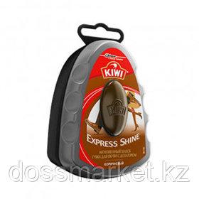 """Губка для обуви из гладкой кожи Kiwi """"Express Shine"""", с дозатором, коричневая"""