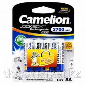 Аккумулятор Camelion Lockbox, пальчиковые AA, Ni-MH, 2700 mAh 1.2V, 4 шт./уп., цена за упаковку