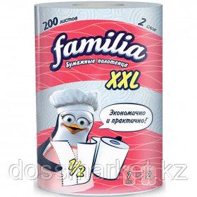 """Полотенца бумажные Familia """"XXL"""", 2-х слойные, 1 рулон в упаковке, 25 м, белые"""