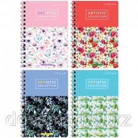 """Записная книжка ArtSpace """"Цветы. Artistic collection"""", А6, 80 листов, в клетку, на гребне"""
