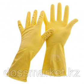 Перчатки для уборки OfficeClean, 1 пара, универсальные, размер M, латекс, желтые