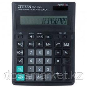 Калькулятор настольный Citizen SDC-664S, 16 разрядов, 199*153*31 мм