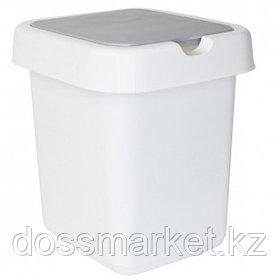 """Ведро-контейнер для мусора Svip """"Квадра"""", 25 л, прямоугольное, белое"""