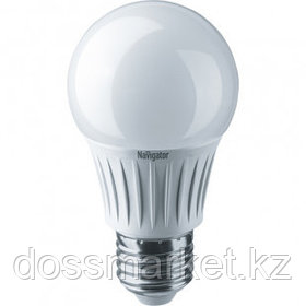 Лампа светодиодная Navigator NLL-A, 7 Вт, 2700К, теплый белый свет, E27, форма груша