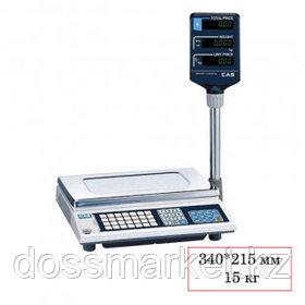 Весы торговые со стойкой CAS AP-15 EX(0.9T), электронные, максимальная нагрузка 15 кг