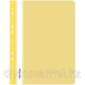 Папка-скоросшиватель Berlingo, А4 формат, 180 мкм, желтая, с перфорацией