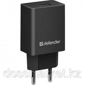 Универсальное USB зарядное устройство Defender EPA-10, 1*USB, 2.1 A, черный