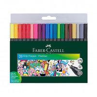 """Набор ручек капиллярных Faber-Castell """"Grip Finepen"""", 0,4 мм, 20 цветов, ассорти"""