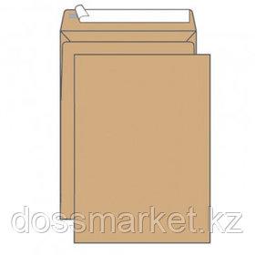 Конверт вертикальный, формат С5 (229*162 мм), крафт, отрывная лента