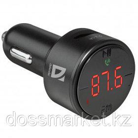 FM-модулятор Defender RT-Funk BT/HF, USB 2.1 A, черный