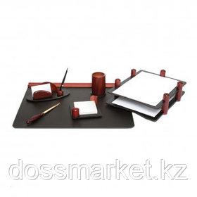 Набор настольный Delucci, 6 предметов, черный/красное дерево