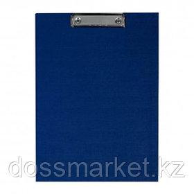 Папка-планшет OfficeSpace, А4, с верхним прижимом и крышкой, бумвинил, синий