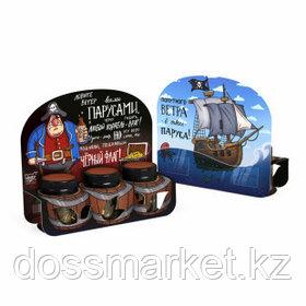 """Подарочный набор чая Chokocat """"Пиратский"""", 3 бочонка по 45 гр"""