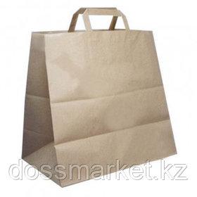 Пакет-сумка бумажная, прочная, размер 32*37 см, крафт