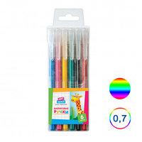 Набор шариковых цветных ручек ArtSpace, 0,7 мм, 6 шт в упаковке, ассорти
