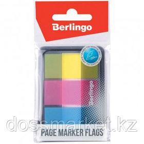 Закладки самоклеящиеся Berlingo, пластиковые, 45*20 мм, 3 цвета по 20 листов, в диспенсере