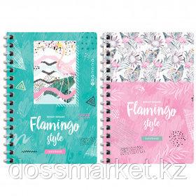 """Записная книжка ArtSpace """"Стиль. Flamingo"""", А6, 120 листов, на гребне"""