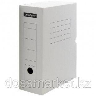 Архивный короб OfficeSpace, 100*250*320 мм, вместимость 950 листов, микрогофрокартон, белый