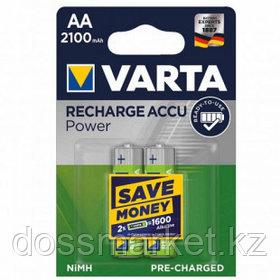 Аккумулятор Varta R2U Mignon, пальчиковые AA, 2100 mAh 1.2V-HR06, 2 шт./уп., цена за упаковку