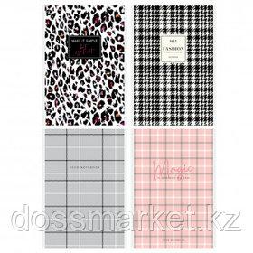 "Блокнот ArtSpace ""Узор. Fashion pattent"", А5, 80 листов, на скрепке, в клетку"