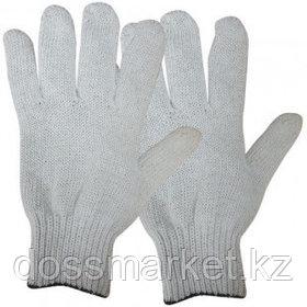 Перчатки хлопчатобумажные OfficeClean, х/б, без покрытия, 7,5 класс, 4 нитки, белые