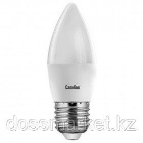 Лампа светодиодная Camelion LED7-C35/865/E27, 7 Вт, 6500К, холодный белый свет, E27, форма свеча