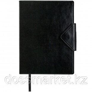 Ежедневник датированный Misterio, 2021 г., А5, 176 л., на застежке, черный