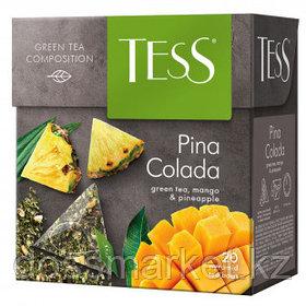 Чай Tess Pina Colada, зеленый фруктовый, 20 пирамидок