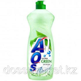 "Средство для мытья посуды AOS ""Ultra Green"", 900 мл"
