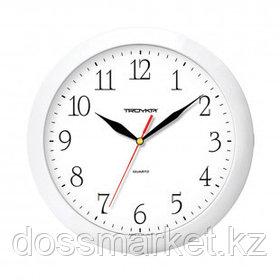 Часы круглые Troyka, d=29 см, белые, пластиковые