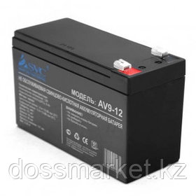 Аккумуляторная батарея SVC AV9 -12, 12В, 9 Ач, размер 95*151*65 мм, черная
