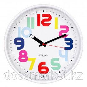 Часы круглые Troyka, d=30 см, белые, пластиковые