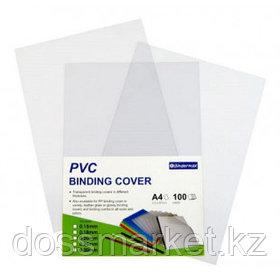 Обложки для переплета пластиковые Bindermax, А4, 200 мкм, прозрачные, 100 шт. в пачке