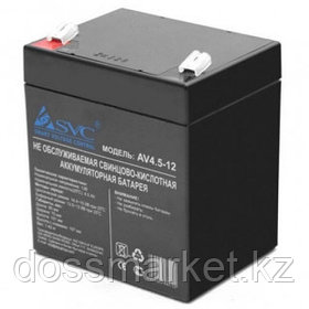 Аккумуляторная батарея SVC AV4,5-12, 12В, 4,5 Ач, размер 106*90*70 мм, черная
