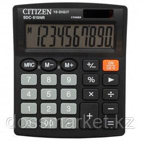 Калькулятор настольный Citizen SDC-810NR, 10 разрядов, 124*102*25 мм, черный