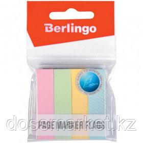 Закладки самоклеящиеся Berlingo, бумажные, 50*12 мм, 4 пастельных цвета, 400 листов
