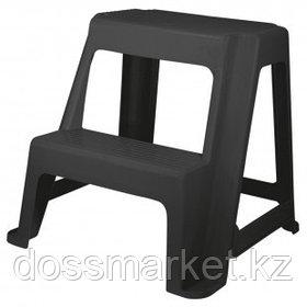 Табурет-стремянка Idea, 47*48*41 см, пластик, черный