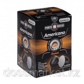 """Кофе в капсулах Porto Rosso """"Americano"""", для кофемашин Nespresso, 10 капсул"""