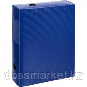 Архивный короб Attache, 70 мм, на кнопке, пластик, синий