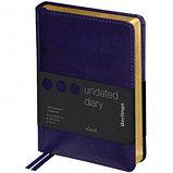 """Ежедневник недатированный Berlingo """"xGold"""", А6, 160 л., кожзам, золотой срез, фиолетовый, фото 2"""