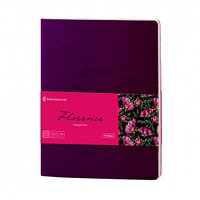 "Тетрадь Greenwich Line ""Florence"" А5, 48 листов, кожзам, фиолетовый"