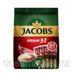 """Кофе растворимый Jacobs """"Крепкий"""", 3 в 1, 50 пакетиков"""