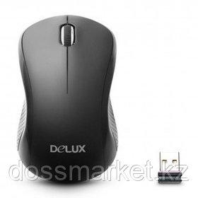 Мышь беспроводная Delux DLM-391OGB, USB, 3 кнопки, 1000 dpi, черная